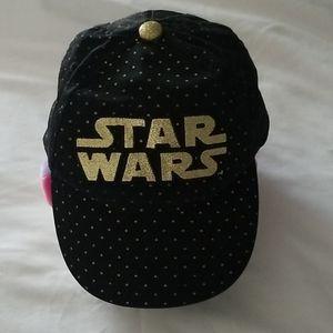 Star Wars Black with Gold Polka dots strapback hat